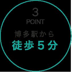 博多駅から徒歩5分